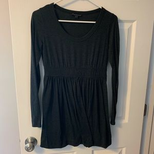Gray sweater dress